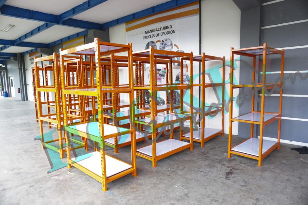 Rak farmasi laboratorium dan rak gudang warehouse heavy dutty